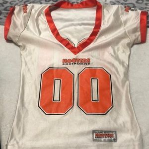 Hooters style football v neck jersey
